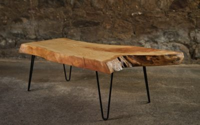 Ash Coffee Table with Hair Pin Legs